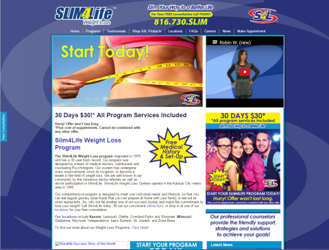 Slim 4 Life Websites